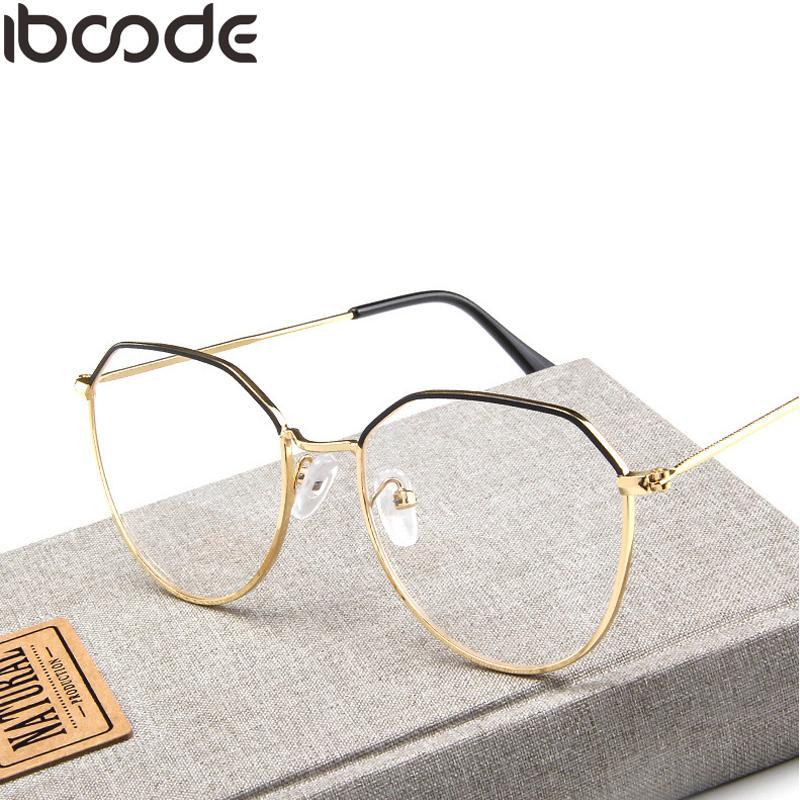 aba86a1f5d Iboode Retro Polygon Metal Glasses Frame Women Men Vintage Optical ...