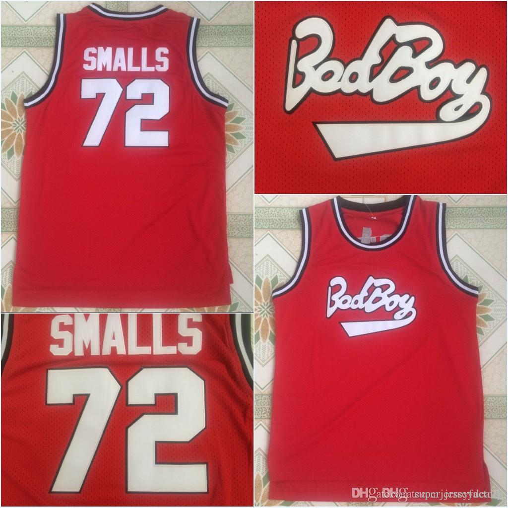 Bad Boy Notorious Big #72 Biggie Smalls Movie Basketball Jersey 100% Stitched Red S-3XL Fast Shipping
