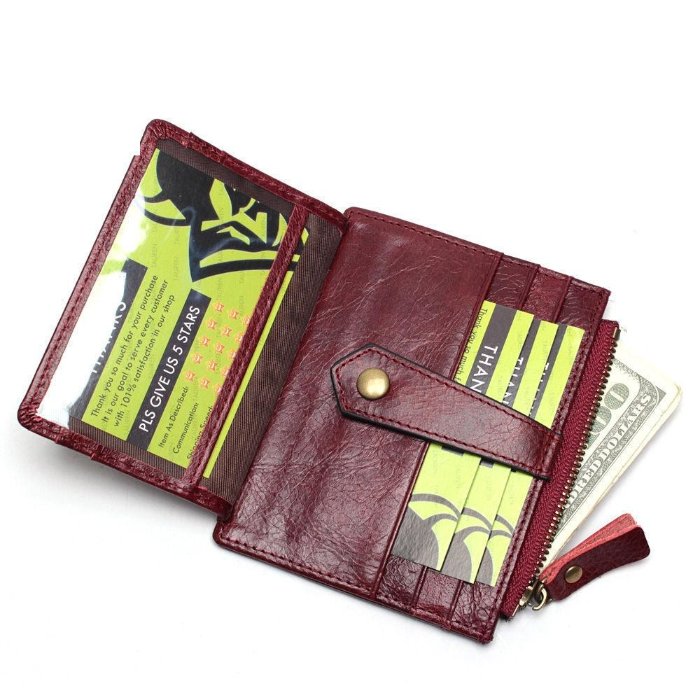 b50993f691a2 Rfid Blocking Genuine Leather Small Women Card Bag Casual Credit Card  Holder Thin Men Wallet Card Package Money Bag Coin Purse