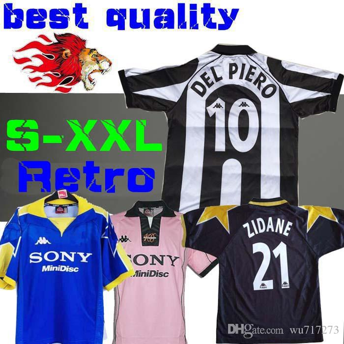 fbd0a89f7 2019 1997 Juventus ZIDANE RETRO SOCCER JERSEYS DEL PIERO 97 98 JERSEY  INZAGHI Deschamps FOOTBALL SHIRTS 120th Anniversary Long Sleeve 95 96 Third  From ...