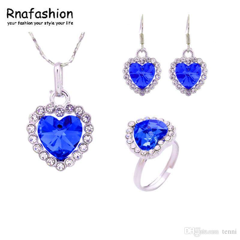 c257ecbf2 Jewelry / Fashion Jewelry Pendants Chinese Suppliers Pointe Earrings +  Necklace + Ring Sets / 010 Diamonds Cheap Bridal Jewelry Sets From Tenni,  ...