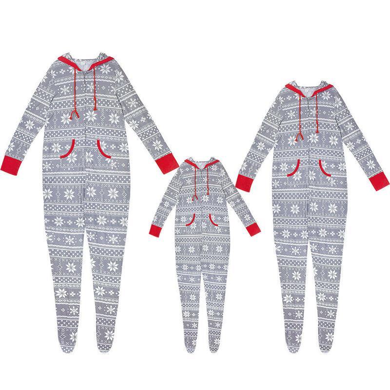 Weihnachtsfamilie Kleidung Snow Flake Pyjamas Set Weihnachten Identische Kleidung Eltern und Kinder Nachtwäsche Nachtwäsche Startseite Party Body
