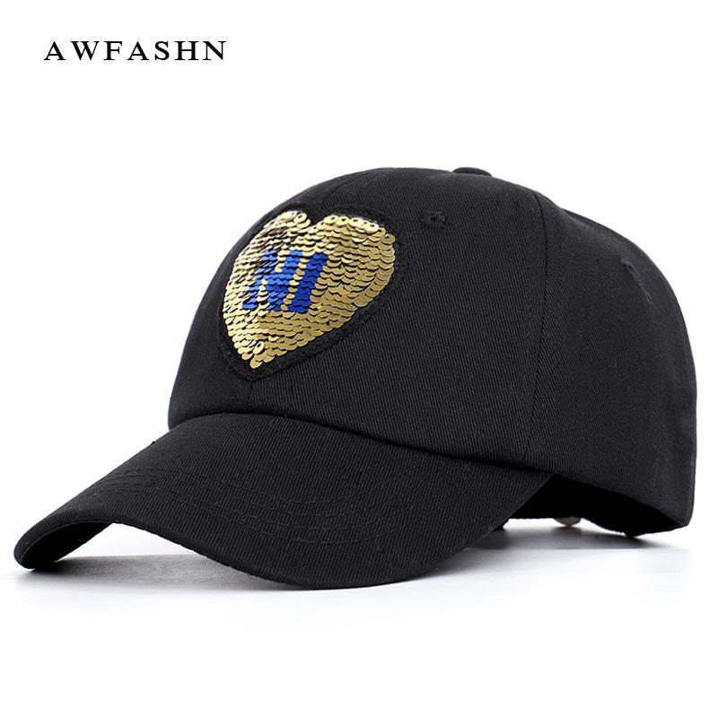 fb521dc588624 2019 New Fashion Ladies Shiny Baseball Cap High Quality Hip Hop Hat ...