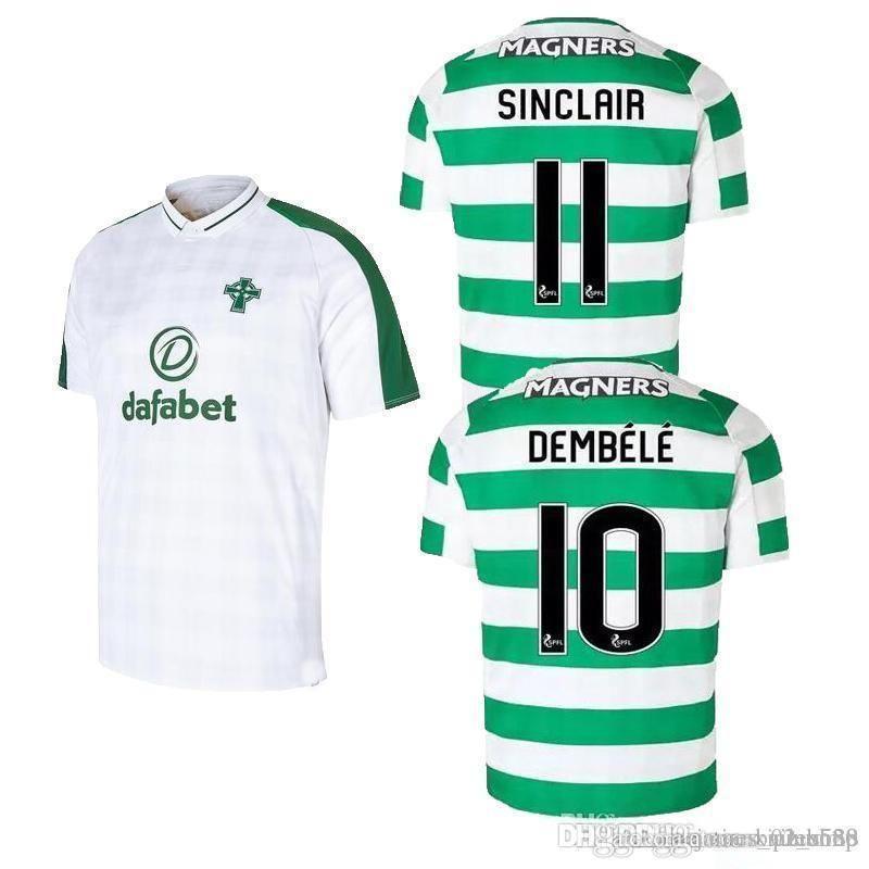 innovative design 389ee 7870e Celticfc Soccer Jerseys Dembele 10 Tierney 63 Sinclair 11 Brown 8 Griffiths  9 18 19 Home Forrest Rogic Jersey Football Shirt