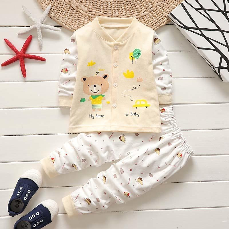 8b38835a11db8 good quality baby boys girls clothes set spring autumn newborn cartoon  clothing set cotton kids boy underwear children pajama suit