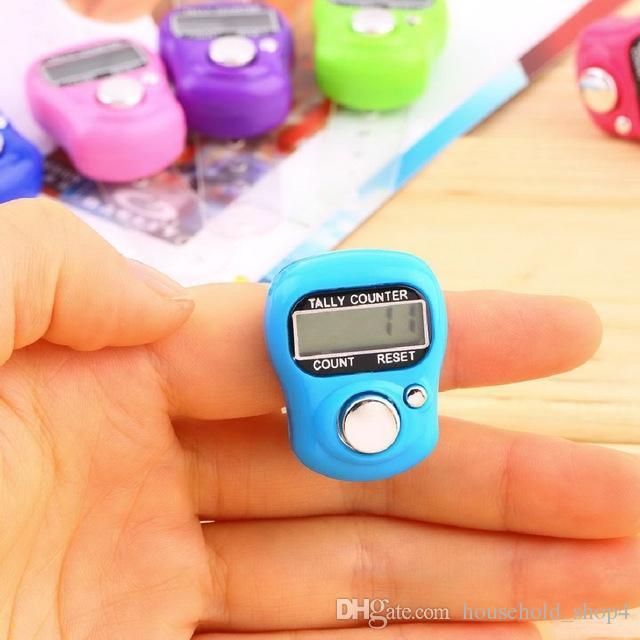 Fashion 1Pc Stitch Marker And Row Finger Counter LCD Electronic Digital Tally Counter New Brand mix colors