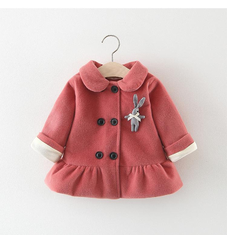 bc4cdfca9 Autumn Winter Girls Coat Cartoon Long Sleeves Jackets Casual Uniform ...