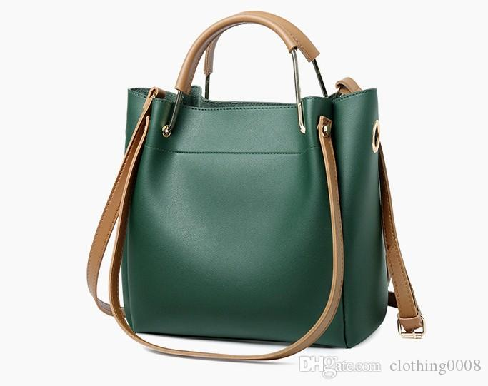 1cd98cf37615 Big Messenger Bag Women Shoulder Female Bag Ladies pu Leather Bags For Women  Handbags Green Black