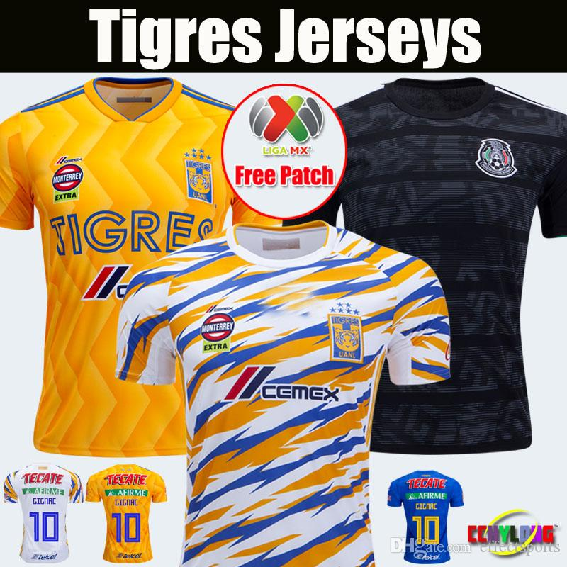 bbfa54fa0f5 2018 2019 México Selección Nacional Copa Oro UANL TIGRES Nuevo Fútbol  JERSEYS 18 19 LIGA MX 2020 Maillot De Foot Home 6 Estrellas Camisetas De  Fútbol GIGNAC ...