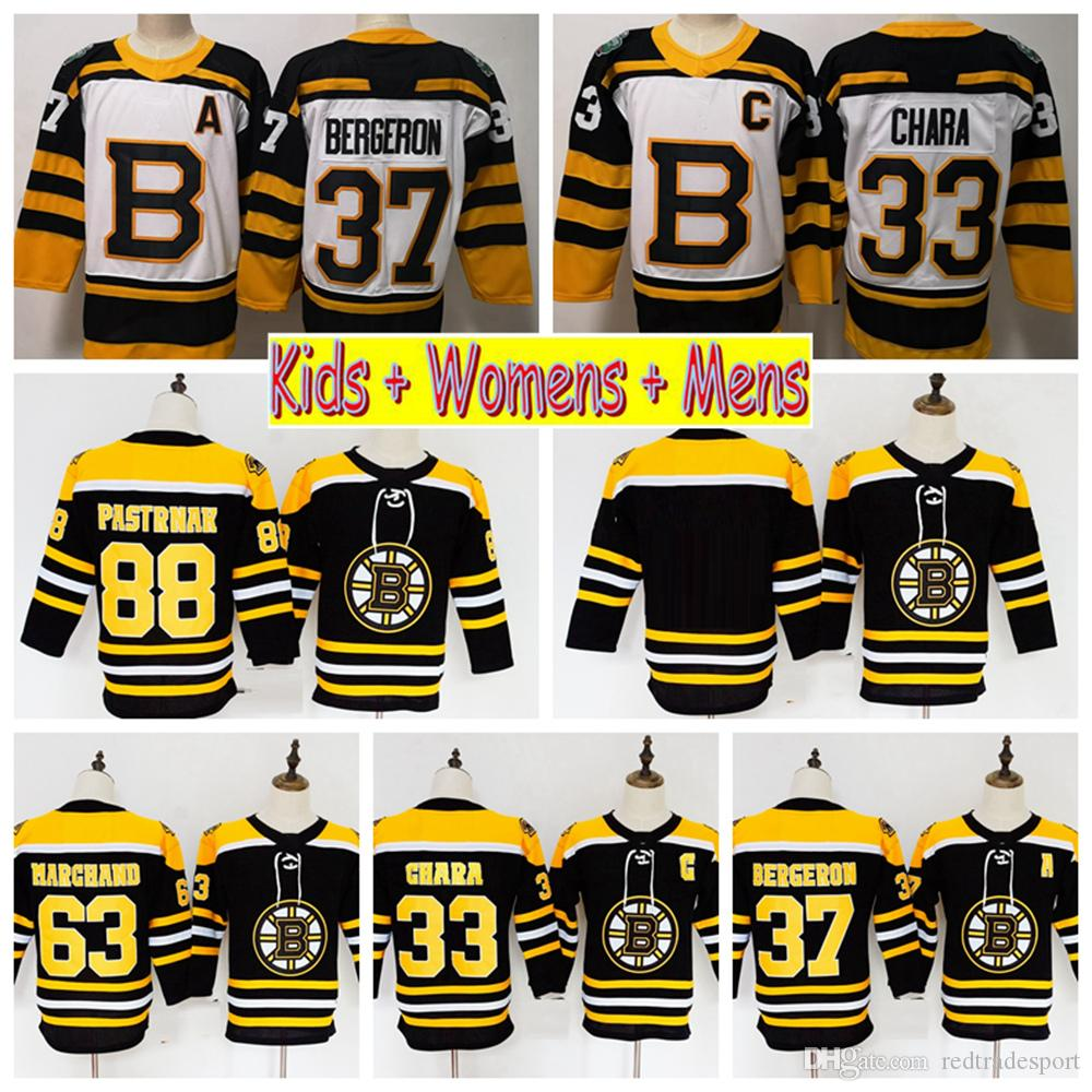 2019 Winter Classic Youth Boston Bruins Hockey Jerseys 37 Patrice ... 9c1d03441