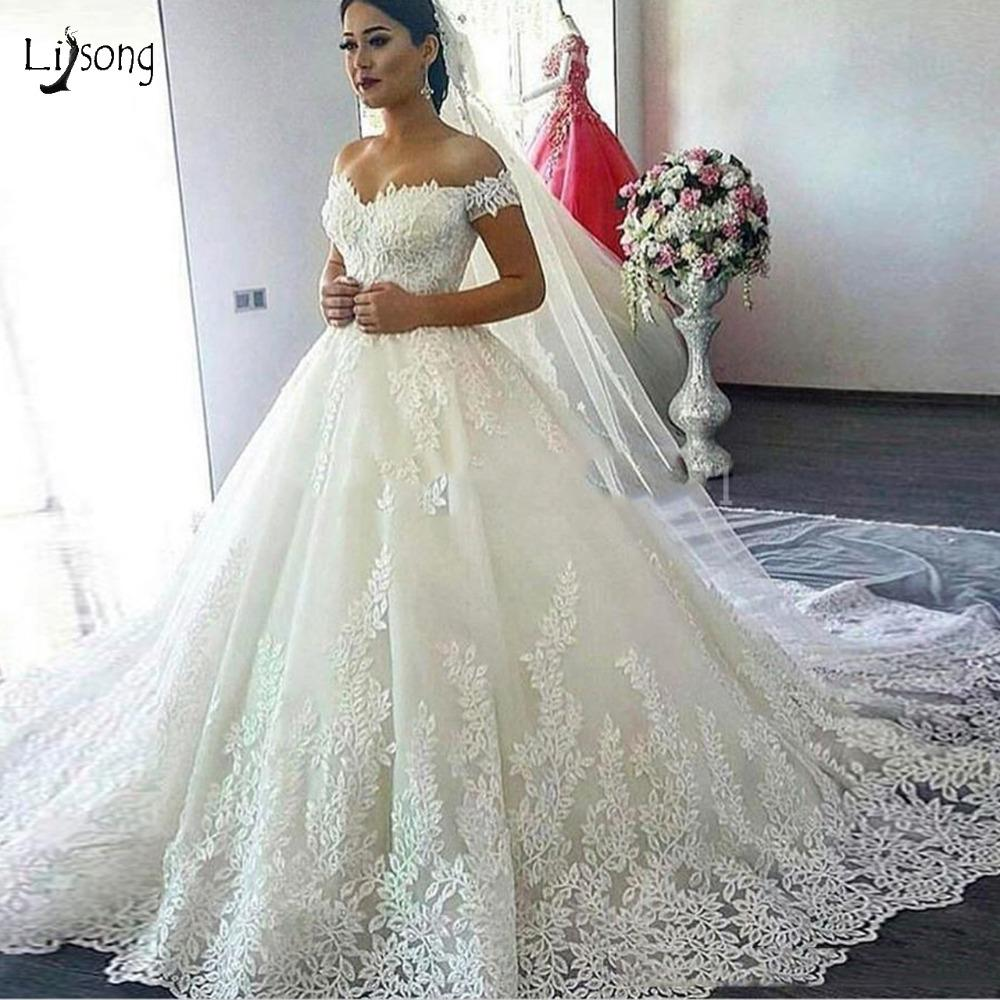 Discount Dubai Vintage Unique Lave Wedding Dresses Plus Size Bridal ...