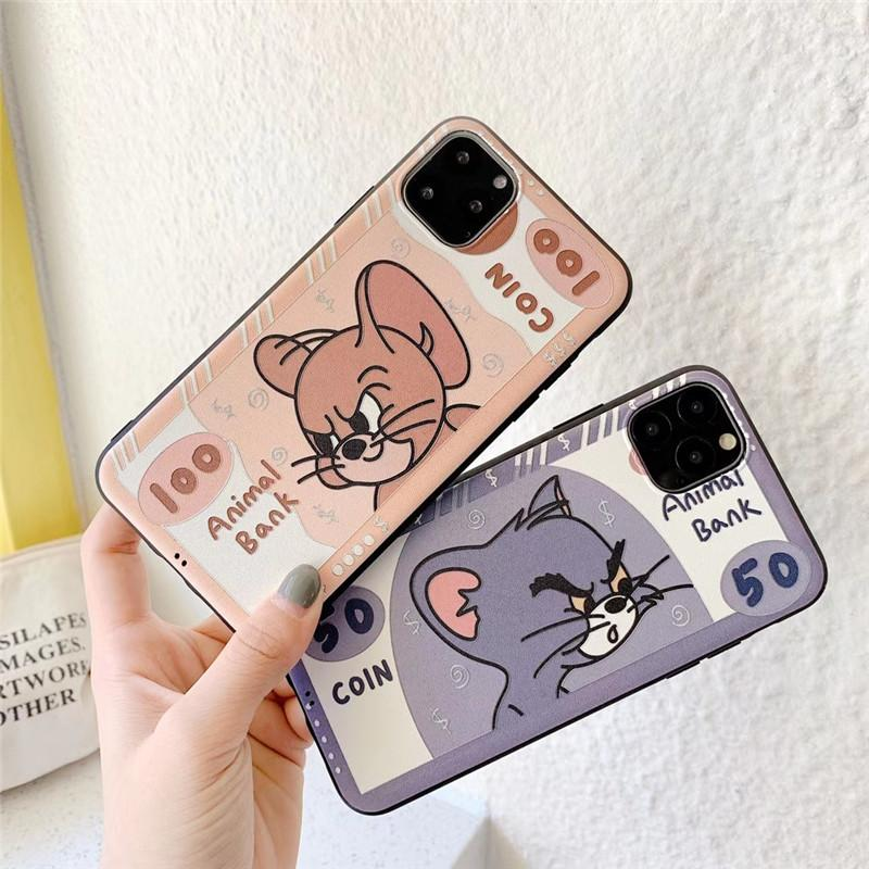 Wholesale fashion designer phone case for iPhone 11pro max X/XS XR 7/8 plus tom and Jerry phone case back cover