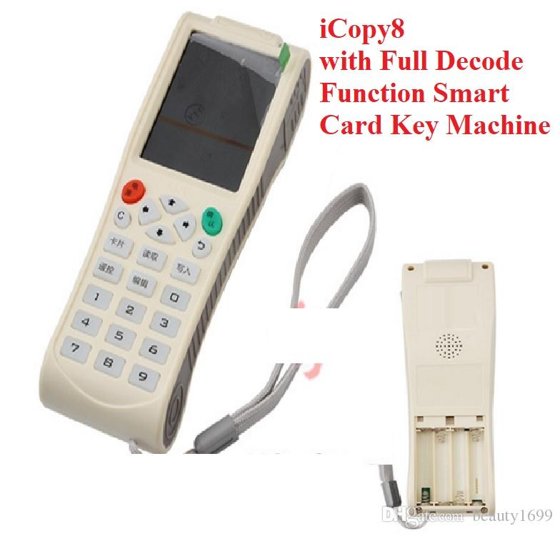 New Arrvail English Version Newest iCopy8 with Full Decode Function Smart Card Key Machine RFID NFC Copier IC ID Reader Writer Duplicator