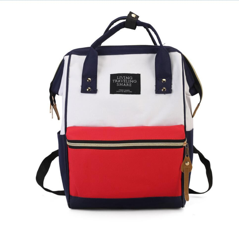 c1985792a4 Backpack School Travel Bag Double Shoulder Bag Zipper Women Canvas Backpack  Chain Ring Teenage Girls Cute Backpacks Hiking Backpack From Sophine15