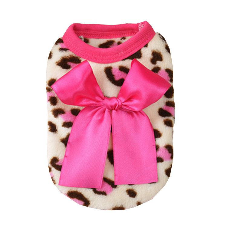 2019 New Pattern Happy Coral Down Pets Clothes Puppy Leopard Print