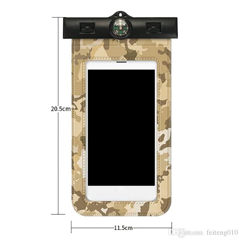 2018 New Transparent Swimming Mobile Phone Protection Bag Universal Camouflage Mobile Waterproof Cover #359587