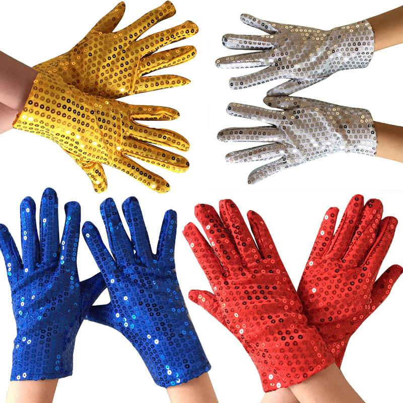 1 paire de Shining Sequin pailletée Gants Glitter Dance Party Fancy Gants Costume