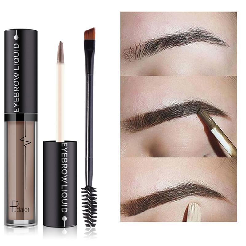 Pudaier New Enhance Eyebrow Shades Liquid Double End Brush Tool Tint