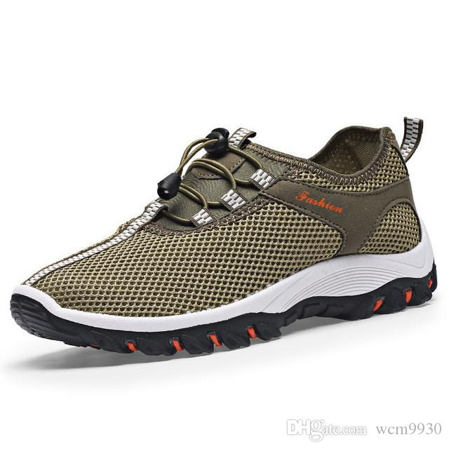 98b0bc47b Summer Breathable Light Men Sneakers Mesh Casual Shoes New 2019 Comfortable  Brand Walking Soft Beach Outdoor Footwear Boat Shoes Shoes For Men From  Wcm9930