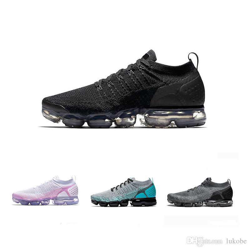 new style d4439 f72d0 Acheter Nike Air Vapormax TN With Box VaporMax Max Off White Flyknit  Utility Qualité Blanc Argent Noir Chaussures Pour Hommes Et Femmes  Exécutant Des Hommes ...