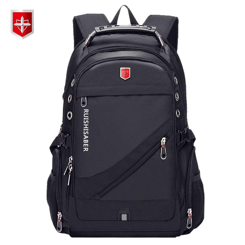 6218d2d38d0a New Oxford Swiss Backpack USB Charging 17 Inch Laptop Men Waterproof Travel  Rucksack Female Vintage School Bag Bagpack Mochila College Backpacks Girl  ...