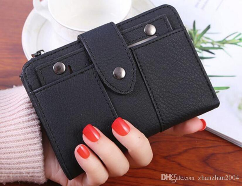 18ss spring and summer new short retro matte ladies students 30% small wallet multi-function mini wallet wholesale