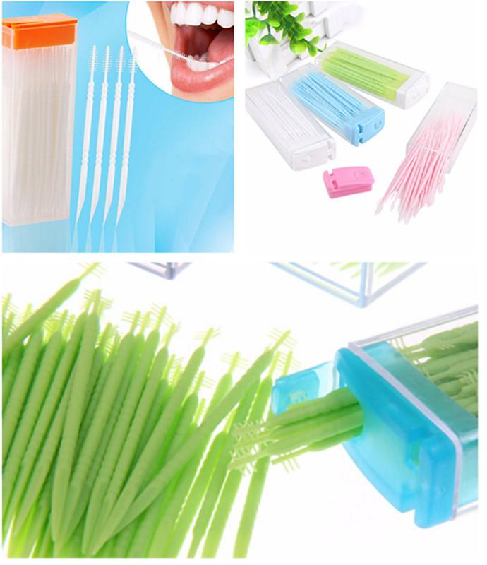 5290291e9  Box Dental Floss Interdental Toothpick Brush Brush Teeth Stick Dental Oral  Care Toothpicks Floss Pick Double Head C18122801 Dental Floss For Bridges  Dental ...