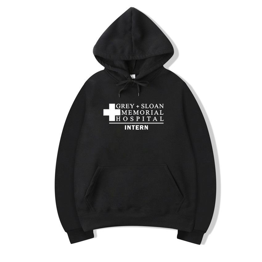 273df1187a6 Pkorli Grey'S Anatomy Sweatshirt Men Women Grey+ Sloan Memorial Hospital  Intern Hoodie Pullovers Long Sleeve Fleece Hoody