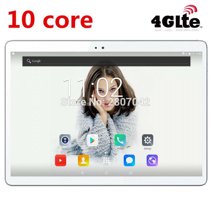 2019 Newest Android 7 0 Deca Core 10 Tablet PC 4GB RAM 64GB ROM inch  1920X1200 8MP 6000mAh WIFI GPS 4G LTE DHL free shipping