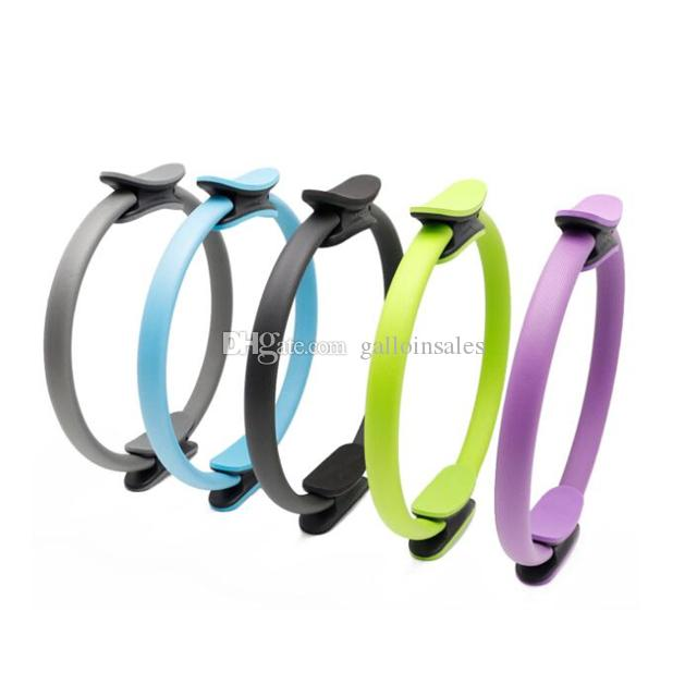 37CM Yoga Pilates Anello Fitness Circle 6 colori Strumento fitness Dual Grip Pilates Ring Magic Circle Muscoli Body Exercise YPR001