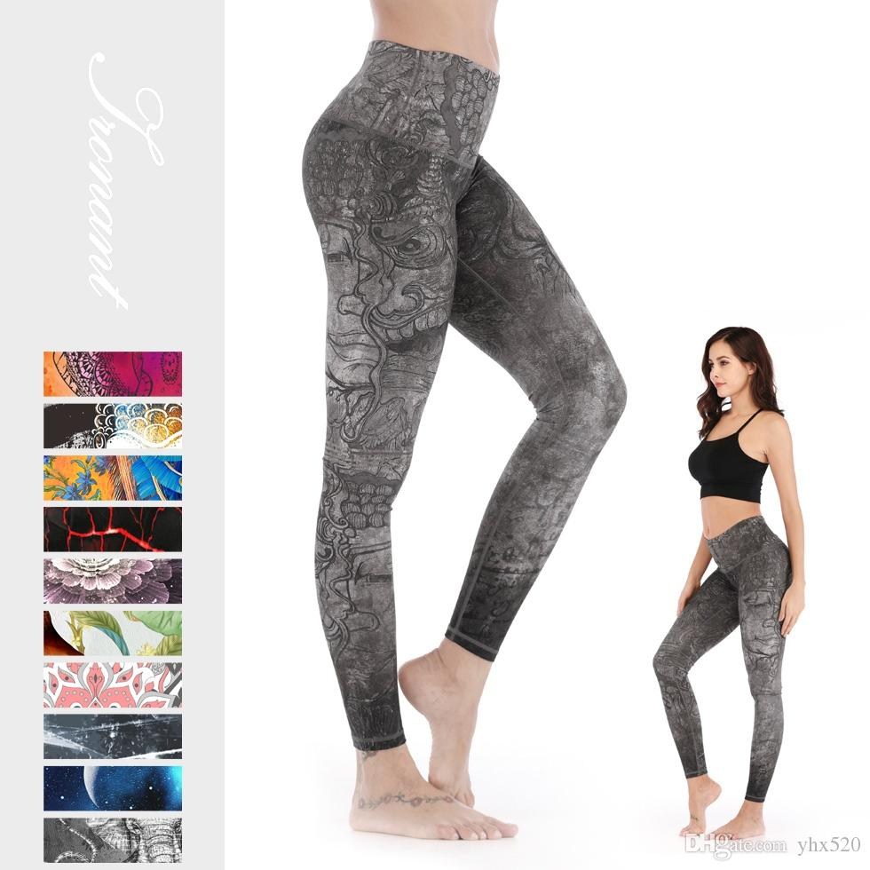 Le donne Eco-Friendly Yoga Pants Sport Running Fitness Sport Leggings Gym Tights Stretch Stampa Sportswear # 932704