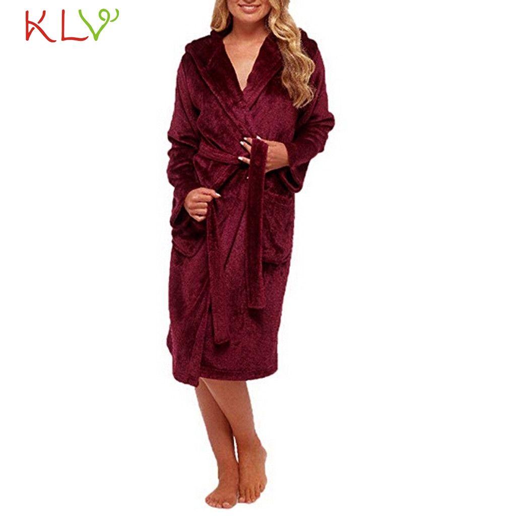 Women Robe Sexy 5XL Winter Plush Lengthened Shawl Bathrobe Home Clothes  Long Sleeved Robe Coat Plus Size Femme Sleepwear 18Nov27 Canada 2019 From  Redbud01 fc8f13b30