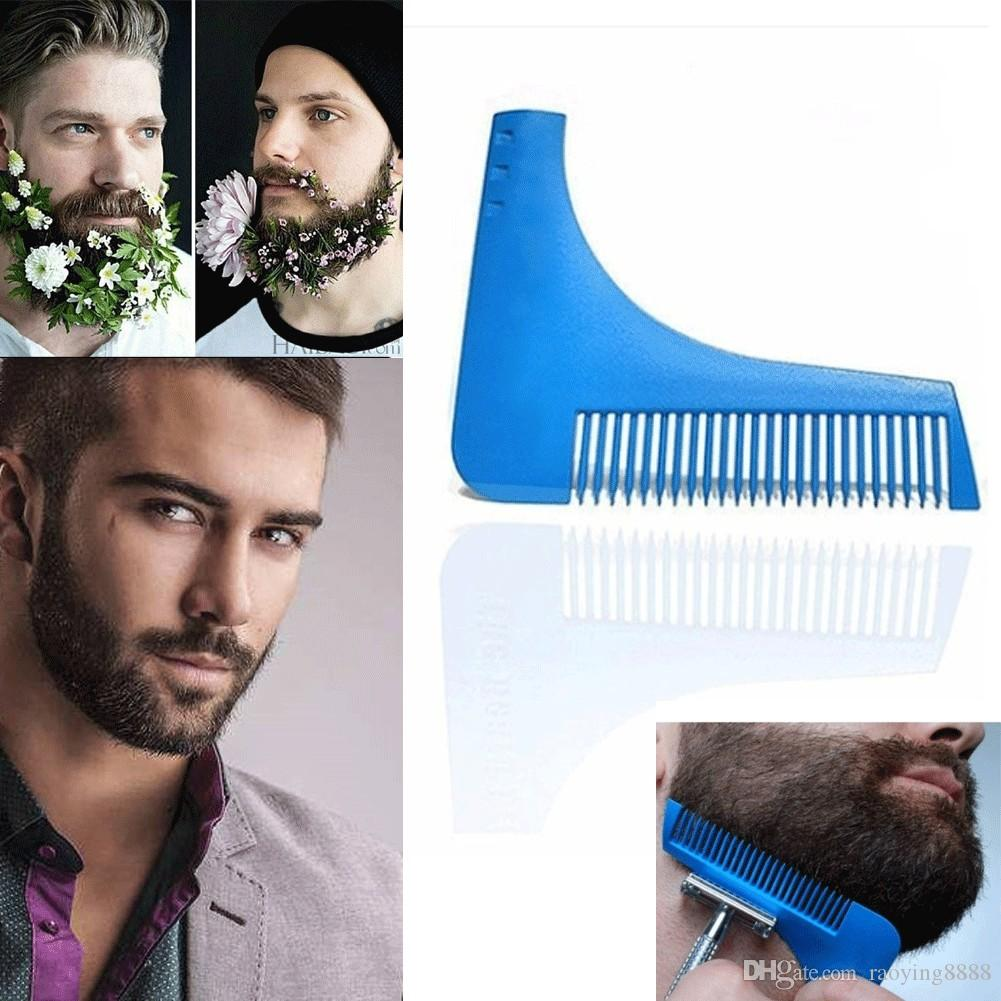 New Hot Sale Real Hairbrush Hair Comb Beard Shaping Tool Sex Man Gentleman Trim Template Hair Cut Molding Modelling Tools