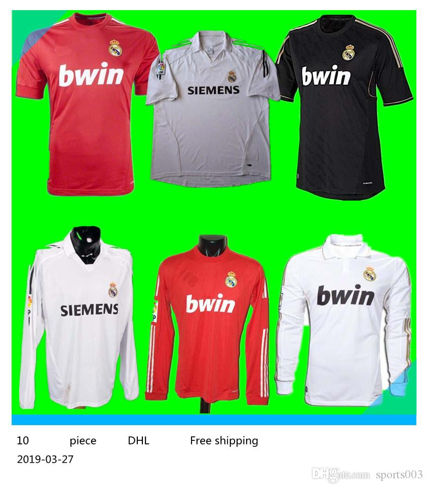 e1ea52411 2019 Retro 2011 12 Real Madrid Home Soccer Football Jersey Sergio Ramos  KAKA HIGUAIN RONALDO ZIDANE Beckham 2005 06 RAUL Robinho Long Sleeve From  Sports003