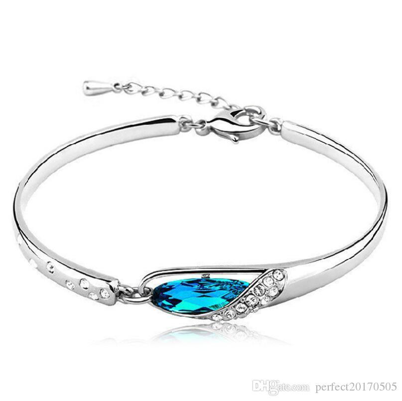 2fa498ebfc1 Luxury Sapphire Bracelets Women Jewelry New Style Charms Blue ...