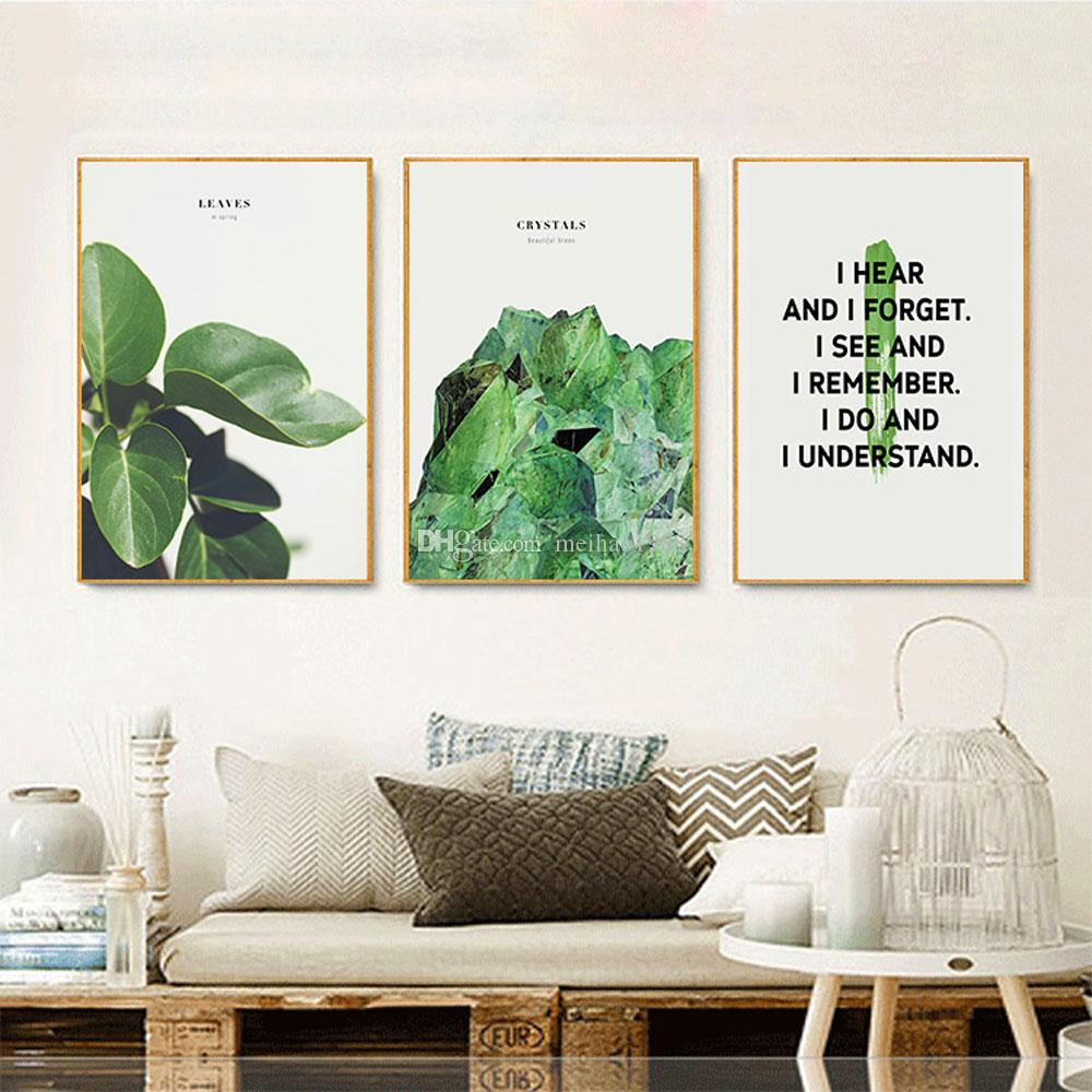 3 Unidades / set Tropical Rainforest Leaf Plants Impresiones de pósteres Hojas Lienzo HD Impresiones Wall Art Pictures Living Room Decor 20