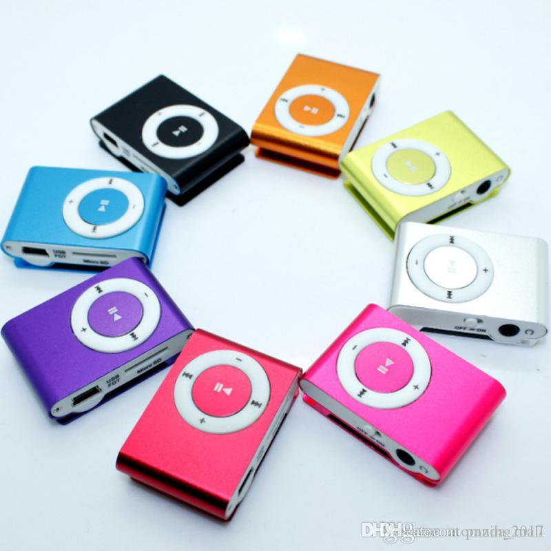 Mini Clip MP3 Player sans écran - Support Micro TF / Carte SD (1-16GB) 2015 Lecteurs MP3 MP3 sport de style sport pas cher