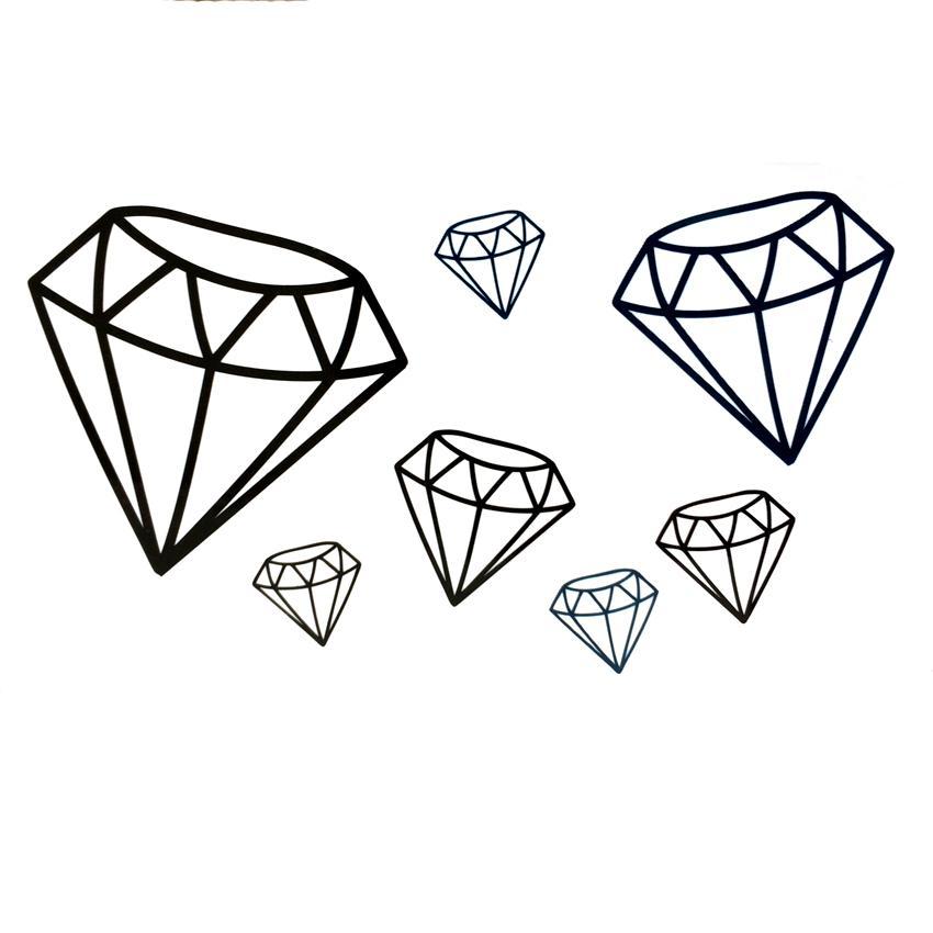 Batom Com Cor De Rosa E O Diamante Tatuagem Design Ilustracao