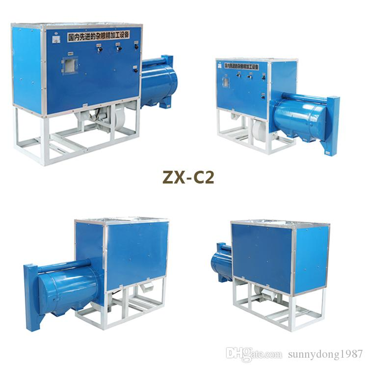Popular grain peeling machine factory price shelling corn maize grits  grinding equipment China Caoxian millet husking plant for sale