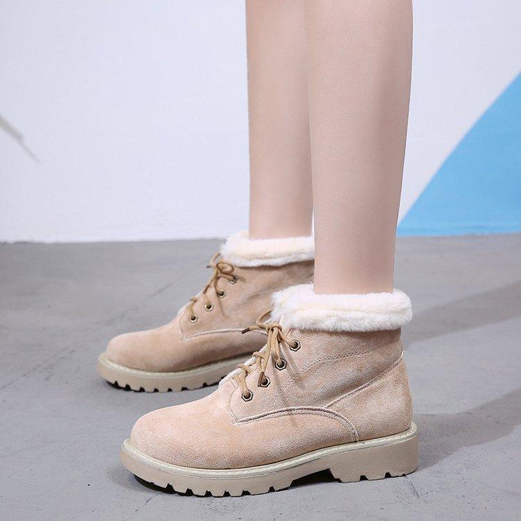 bd8a93180e85 Martens Women Rubber Boots Womens Winter Shoes Snow Bota Botte Femme  Booties Woman 2018 Plush Fashion Lady Ankle Female Autumn Cheap Shoes  Online Shoes For ...