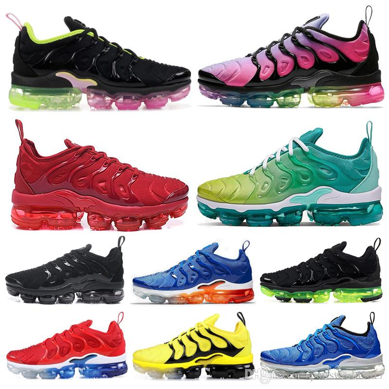 2020 tn plus running shoes Bumblebee Be Ture Hyper Blue Violet Pink Rise Tropical Sunset Game Royal mens women sports sneakers 36-45