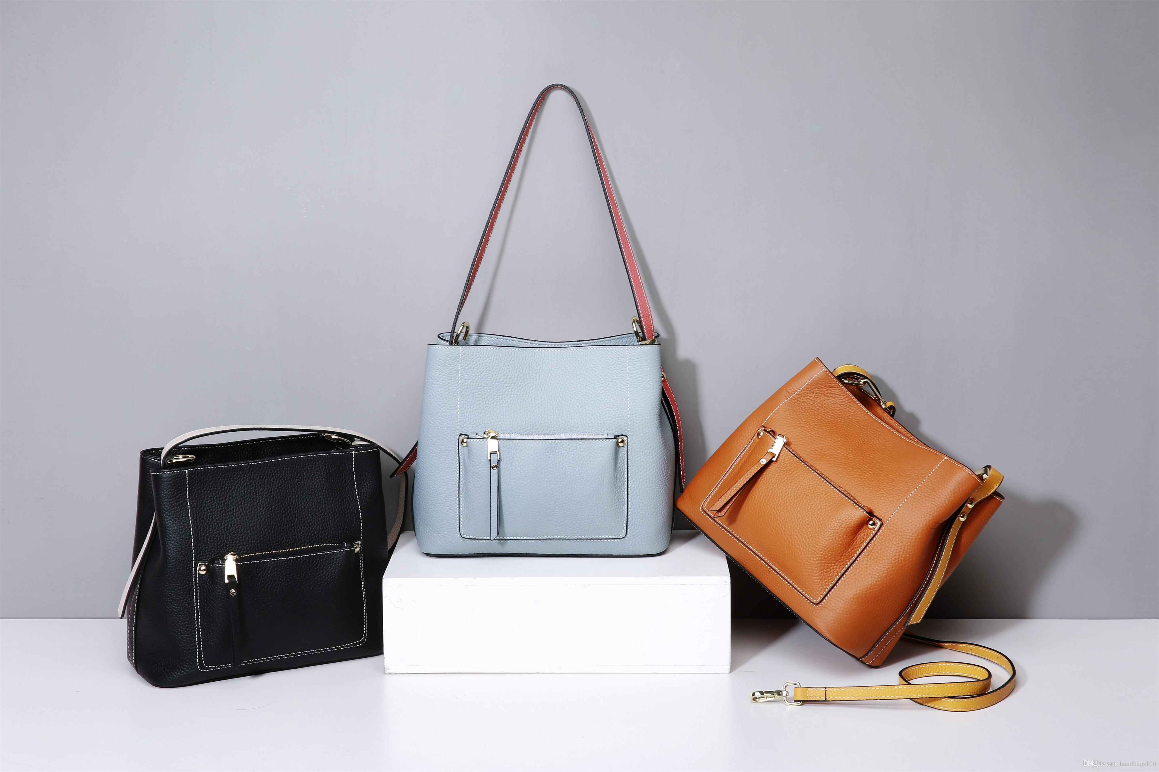 Genuine Leather Hot Sale Fashion Vintage Handbags Women Bags ... 312802466dbe6