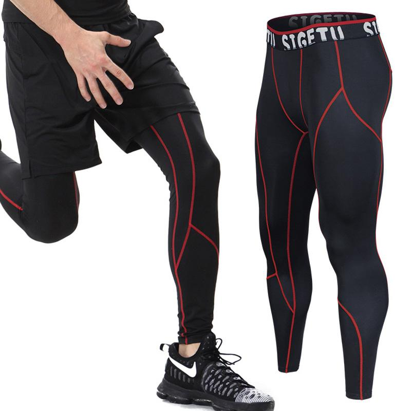 ddf4bec5d0 2019 Mens Compression Tights Leggings Sport Fitness Pants Running Hombre Gym  Clothing Sweatpants Long Quick Drying Breathable M 4XL From Jinzoug, ...