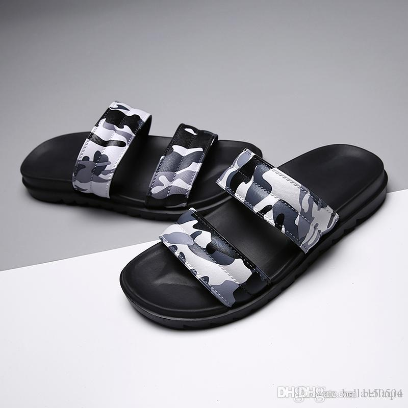 e83c9b00f53a06 Best Quality Designer Slippers Slides Men Sandals Europe Brand Mens Sandals  Medusa Scuffs Summer Huaraches Slippers Camouflage Flip Flops Slipper Dress  ...