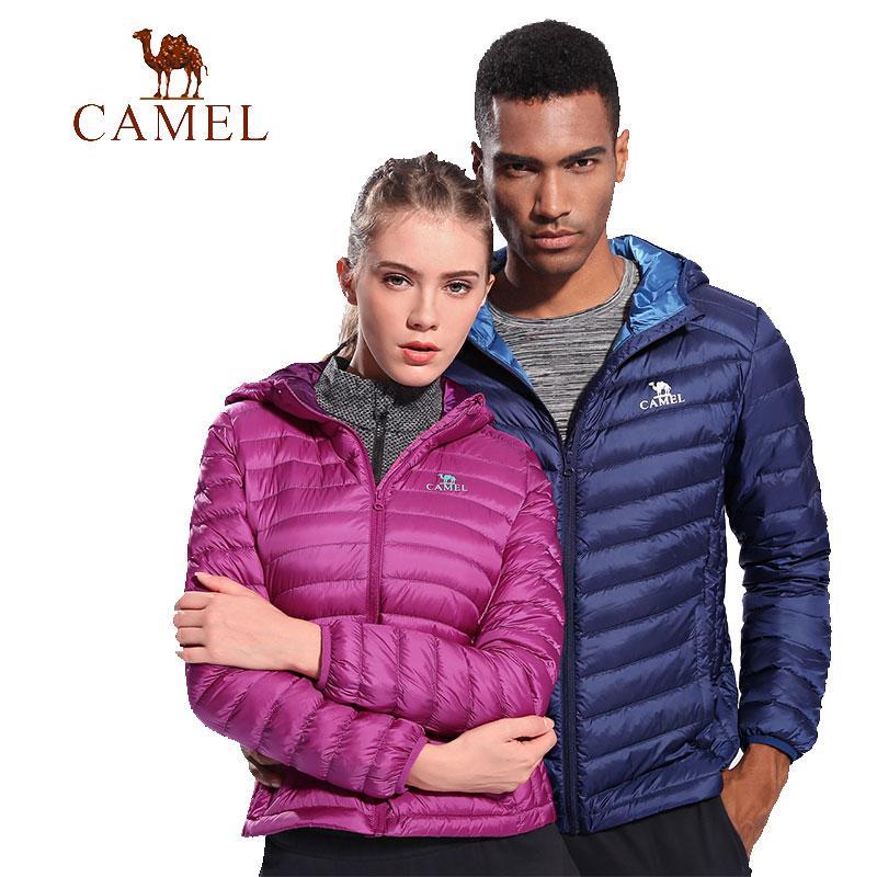 big sale ce330 27574 CAMEL Winter Damen / Herren Ultraleichte Daunenjacke 90% Entendaunen Mit  Kapuze Jacken Langarm Warm Slim Coat Solide Outwear
