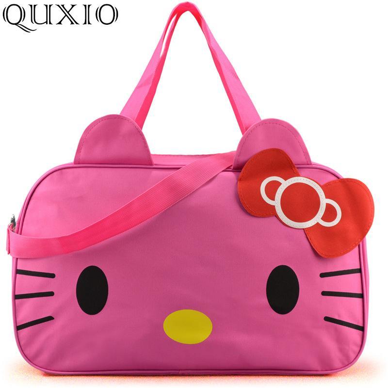 1a25ed0ae Cute Cartoon Hello Kitty Travel Bag For Women 2019 Summer New High ...