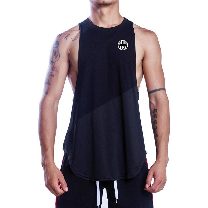 f31a3b25bae0f Muscleguys Fitness Clothing Bodybuilding Tank Top Men Gyms Singlet Do The  Work Stringer Tanktop Muscle Shirt Cotton Mesh Vest T Shirt Making  Companies 7 T ...