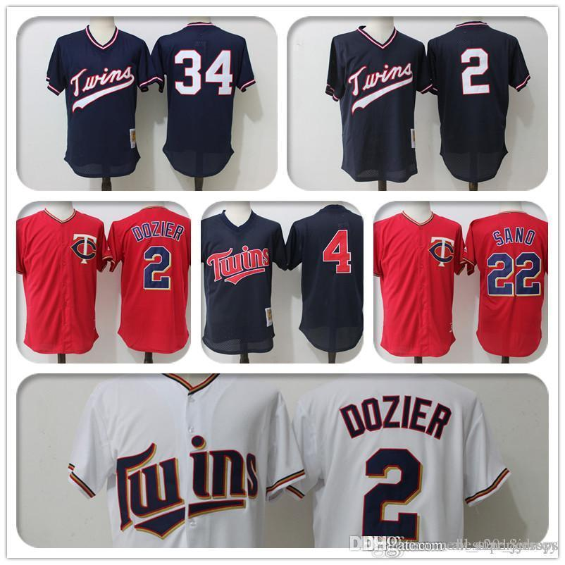01e4a207d1b 2019 Minnesota 2 Brian Dozier Twins Majestic Coolbase Jersey 34 Kirby  Puckett Jersey 22 Miguel Sano Jersey 4 Paul Molitor A4 From  All_star_jerseys, ...