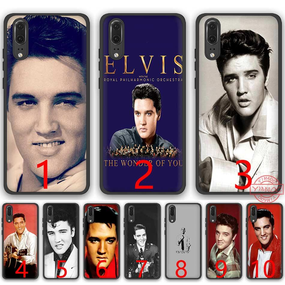 official photos d19dc 188f7 Elvis Presley Kiss Soft Silicone Black TPU Phone Case for Huawei P8 P9 P10  P20 Lite Pro P Smart Cover