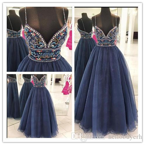 e7c98405bb Real Photo Luxury Beads Sexy Long Prom Dresses Sweetheart Neck Sleeveless  Crystal Backless Tulle Floor Length Formal Prom Evening Gowns Short Purple  Prom ...